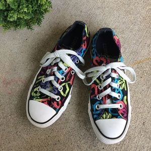 Converse | Peace Love Print Sneakers Childs Size 3